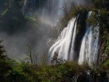Водопад Thi Lor Su, Таиланд Стоковые Фото