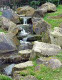 Водопад Trickerling Стоковое Изображение RF