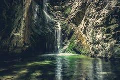 водопад troodos гор Кипра Стоковое Изображение