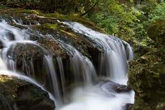 Водопад Vaioaga в национальном парке ущелий Nera Стоковые Изображения
