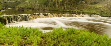 Водопад Veldzes в Латвии Стоковые Фото