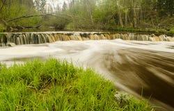 Водопад Veldzes в Латвии Стоковая Фотография