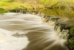 Водопад Veldzes в Латвии Стоковая Фотография RF