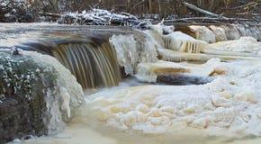 Водопад Veldzes в Латвии Стоковое Изображение