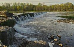 Водопад Venta в Kuldiga Стоковое Изображение