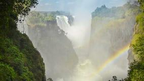 Водопад Victoria Falls Африки акции видеоматериалы