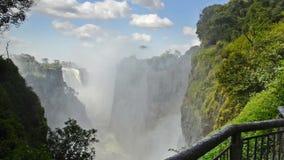 Водопад Victoria Falls Зимбабве Африки сток-видео
