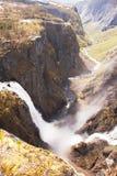 Водопад Voringfossen, Норвегия Стоковая Фотография