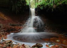 Водопад Zartapu Стоковое Изображение