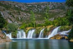 Водопад Zrmanja стоковые изображения rf