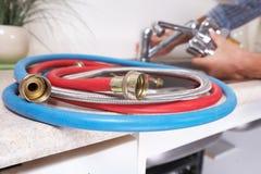 Водопроводный кран и раковина кухни Стоковые Фотографии RF