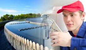 Коллаж водопроводчика Стоковые Изображения RF
