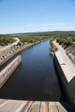 Водосброс запруды резервуара Stockton Стоковое Изображение RF