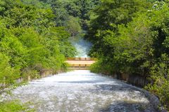 Водосброс резервуара Стоковые Фото