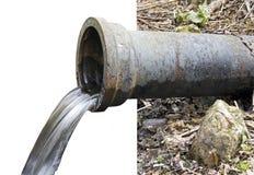 Водосточная труба с текущей водой Стоковые Изображения RF
