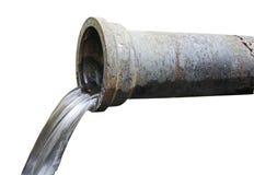 Водосточная труба с текущей водой Стоковое фото RF