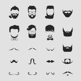 Волосы битника и усик бород бесплатная иллюстрация