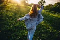 Волосы в солнце Стоковая Фотография