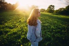 Волосы в солнце Стоковые Изображения