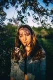 Волосы в солнце Стоковые Фотографии RF