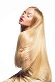 волосы девушки длинние Стоковое Изображение