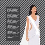 Волосы красивых женщин длинные с дизайном платья Бесплатная Иллюстрация