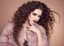 Волосы красоты Портрет очарования модный красивого брюнет Стоковое фото RF