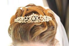 Волосы невесты Стоковые Фотографии RF