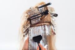 Волосы расцветки Стоковая Фотография