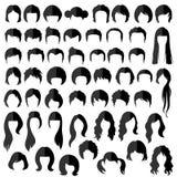 Волосы, стиль причёсок вектора Стоковая Фотография RF