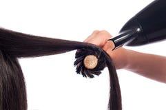 Волосы Blowdry прямые стоковое изображение rf
