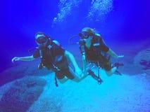 Водолазы акваланга Стоковое фото RF