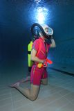 Водолаз акваланга стоковое фото