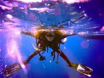 Водолаз акваланга Стоковая Фотография RF