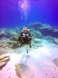 Водолаз акваланга Стоковые Изображения