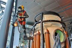 Водолаз масла и историческая капсула подныривания Норвегия stavanger Стоковое Изображение RF
