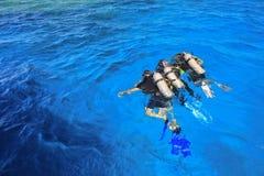 Водолаз, человек-амфибия Стоковое Фото