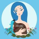 Водолей девушки зодиака Стоковая Фотография RF