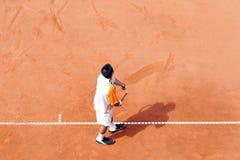во первых теннис подачи Стоковая Фотография
