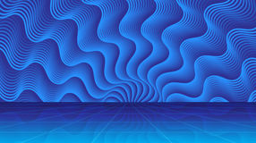 Волшебная абстрактная предпосылка с лучами света Стоковая Фотография RF