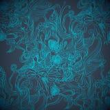 Волшебная голубая рука рисуя безшовную предпосылку Стоковые Фотографии RF