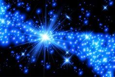 Волшебная звезда рождества на млечном пути реалистический световой эффект Элементы вектора звезд Прозрачная картина зарева Стоковая Фотография RF