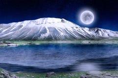 волшебная зима ночи Стоковое фото RF