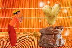 Волшебная картошка сердца Стоковые Изображения