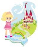 Волшебная книга с красивой сказкой Стоковые Изображения