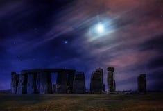 Волшебная ноча на Стоунхендже стоковая фотография
