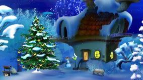 Волшебная ноча Нового Года с фейерверками