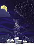 Волшебная ноча иллюстрация вектора