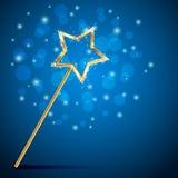 Волшебная палочка на расплывчатой предпосылке Стоковое Фото