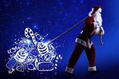Волшебная Рожденственская ночь Стоковое Изображение